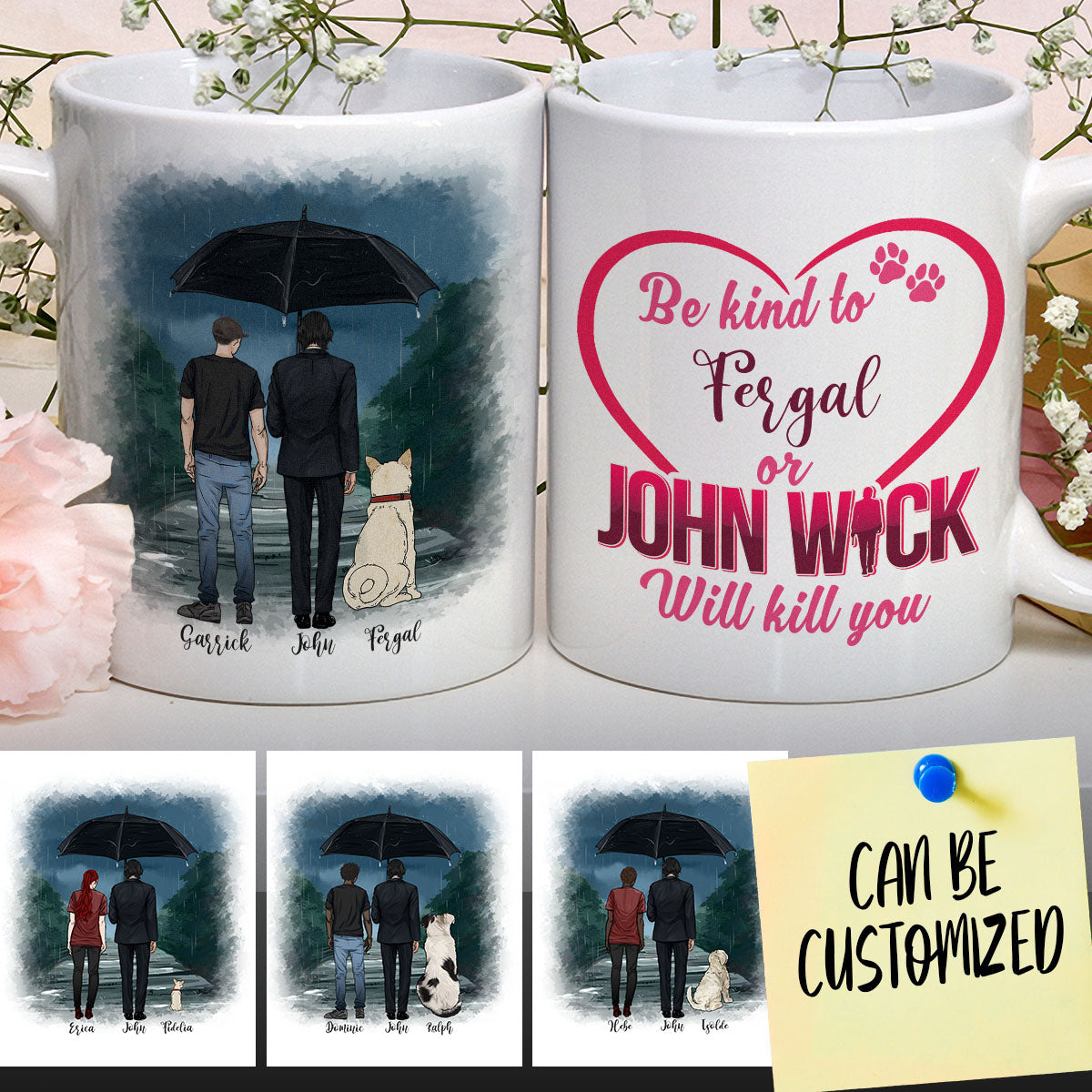 Personalized J.W, You & Your Dog Mug (Male version)
