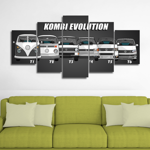 Kombi Evolution Canvas Wall Art