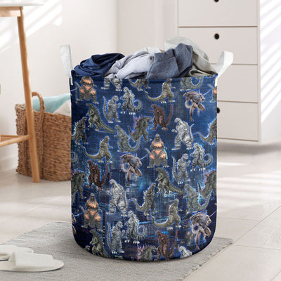 Godzilla Collection Art Laundry Basket