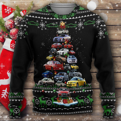 Lancer Evo Christmas Sweater