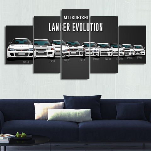 Lancer Evolution Canvas Wall Art