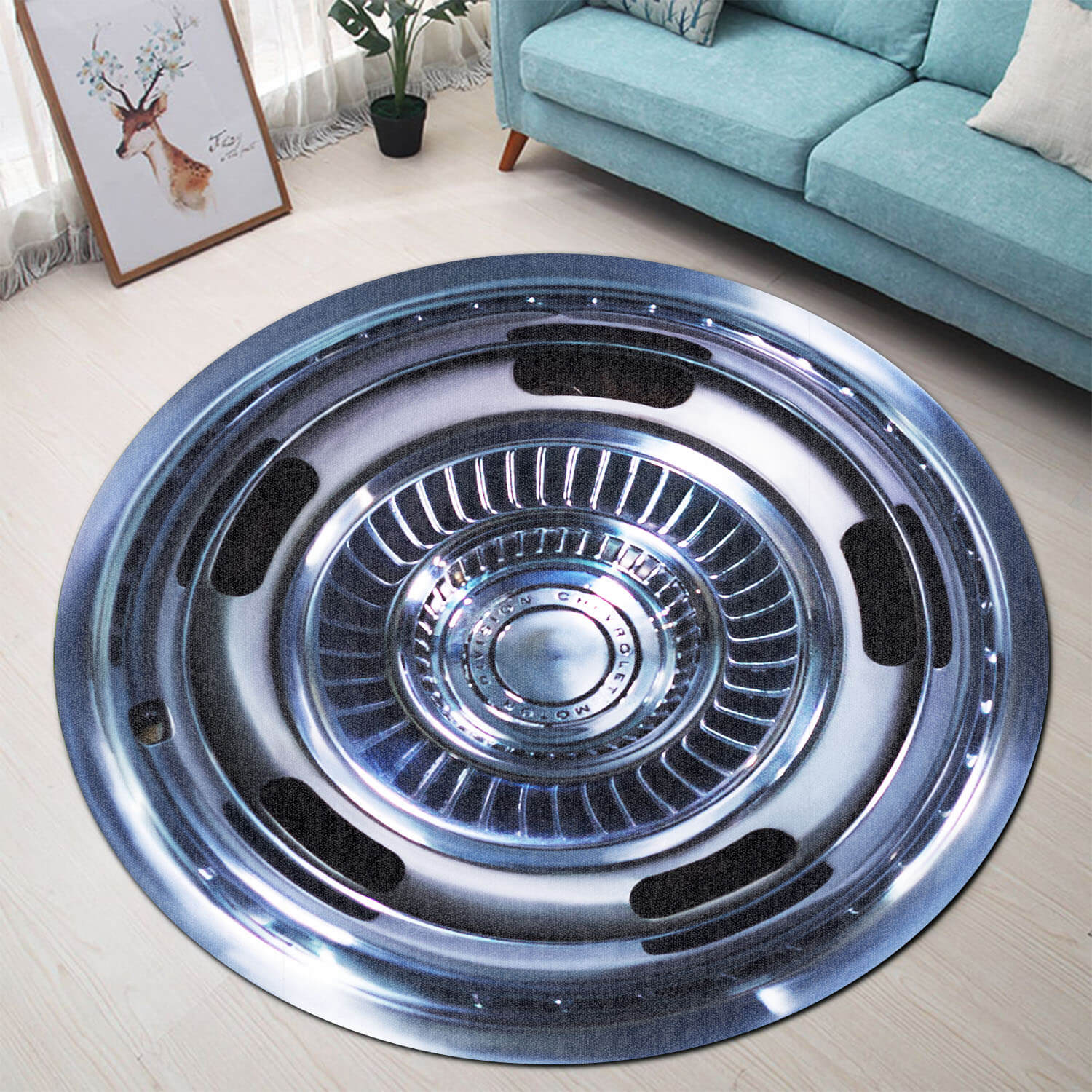 CV Steering Wheel Collection Round Rug