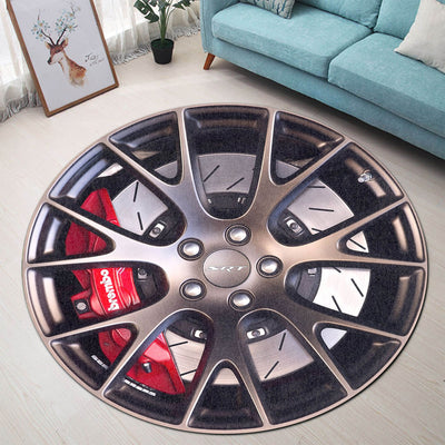 Challenger Steering Wheel Collection Round Rug
