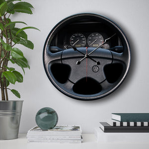 VW Golf Steering Wheel Wall Clock