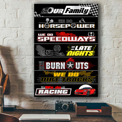 CV Racing Family Canvas Wall Art