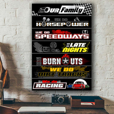 911 Racing Family Canvas Wall Art