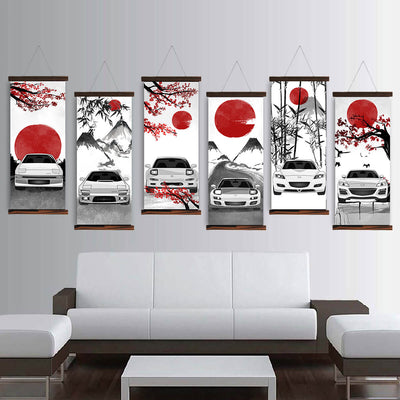 Mazda RX7 RX8 Eastern Style Canvas Wall Art