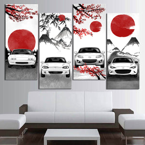 Miata Eastern Style Canvas Wall Art