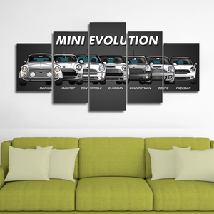 Mini Evolution Canvas Wall Art