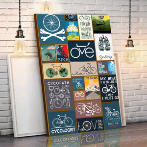 Bicycling Canvas Wall Art V.2