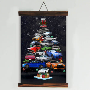 GT-R Christmas Tree Canvas Wall Art