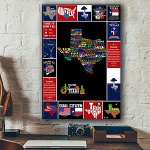 Texas Canvas Wall Art
