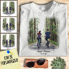 Personalized Bicycling Couple T-shirt