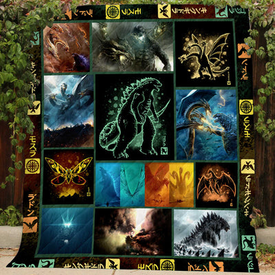 Kaiju Rising Collection Art Quilt