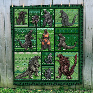 Godzilla Collection Art Quilt