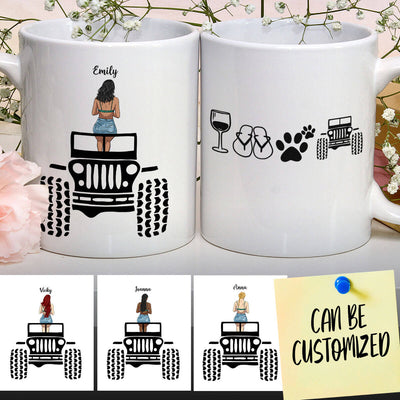 Personalized Off-road Girl Mug