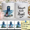 Personalized Tardis & Cats Graphic Art Mug