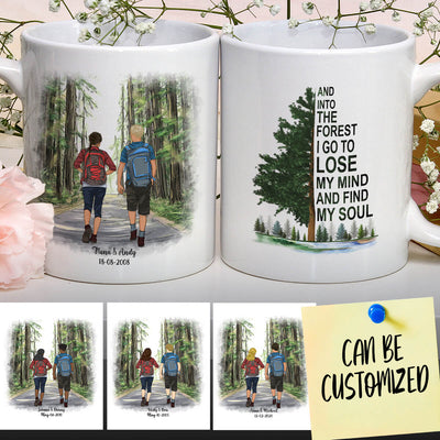 Personalized Hiking Couple Mug