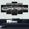 Separate Frame for Mustang Canvas Wall Art
