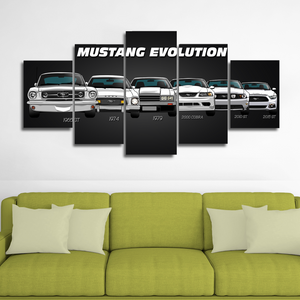 Mustang Canvas Wall Art
