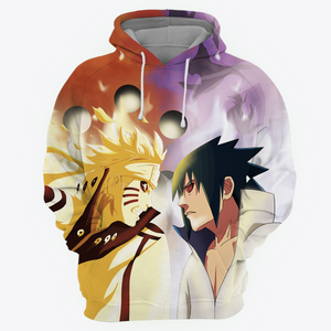 Naruto vs Sasuke All Over Print Hoodie