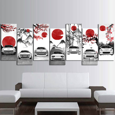 Nissan Z-car Eastern Style Canvas Wall Art