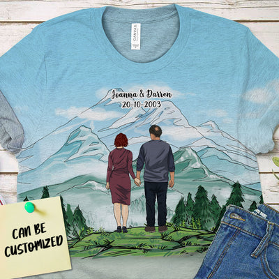 Personalized CV Couple 3D Art All Over Print T-shirt