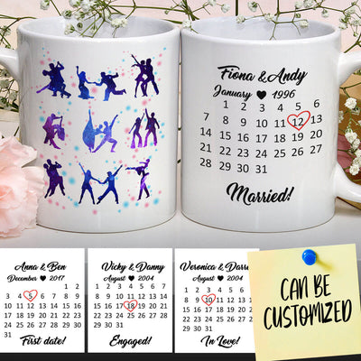 Personalized Dancing Special Date Couple Mug