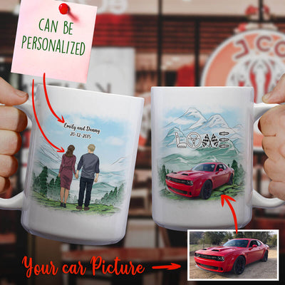 Personalized Car Couple Mug