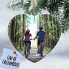 Personalized Bicycling Couple Heart Ornament