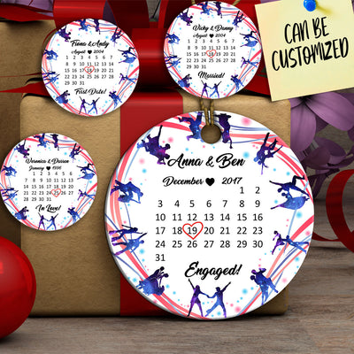 Personalized Dancing Special Date Couple Ornament