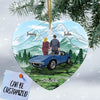 Personalized CV Couple Heart Ornament