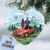 Personalized Stang Couple Heart Ornament