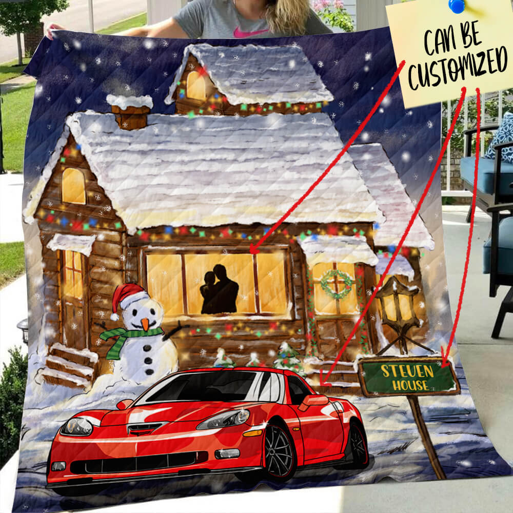 Personalized Christmas Quilt - CV Enthusiast  Family Christmas Night