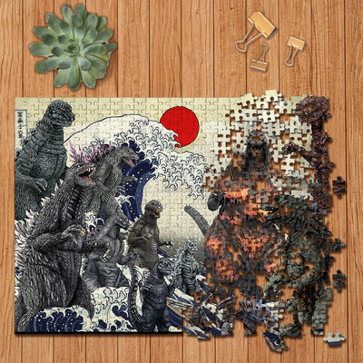 Godzilla Collection Wooden Jigsaw Puzzles v.2