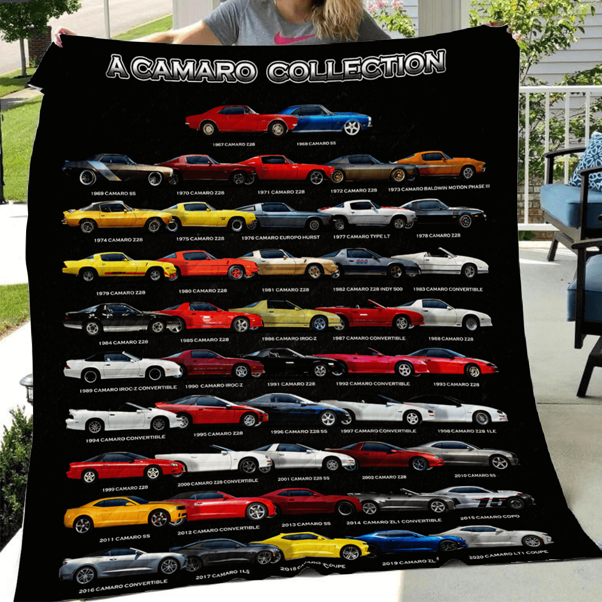 Sensational Sideview Camaro Collection Art Quilt