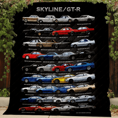 Sensational Sideview Nissan Skyline Collection Art Quilt