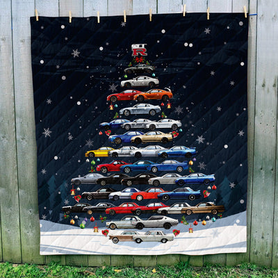 Skyline GTR Christmas Quilt - Christmas Tree From All Skylines/GTR