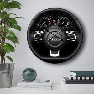 Audi Steering Wheel Wall Clock