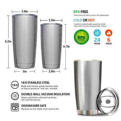Personalized Diving-Scuba Couple Stainless Steel Tumbler