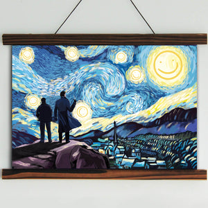 Sherlock Starry Night Framed Canvas Wall Art