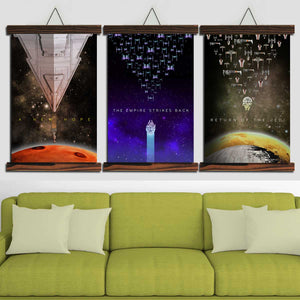 SW Original Trilogy Canvas Wall Art