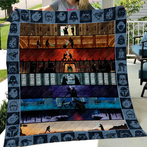 Star Wars 9 Movies Art Quilt