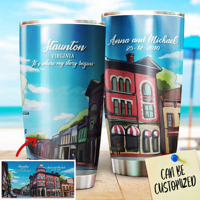 Personalized Staunton - Virginia Hometown Stainless Steel Tumbler