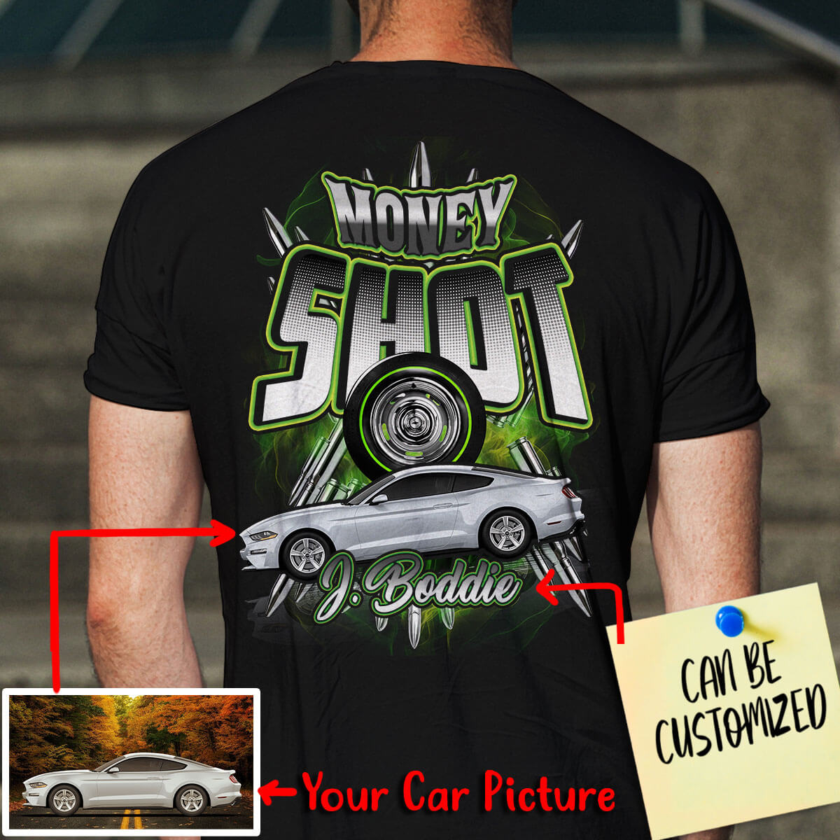 Customized Car Racing Art T-shirt (V2)
