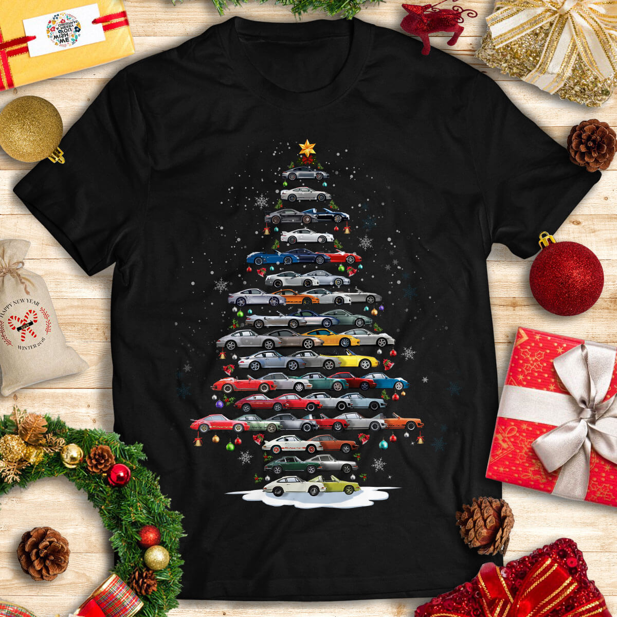 911 Christmas T-Shirt - Christmas Tree From All 911s