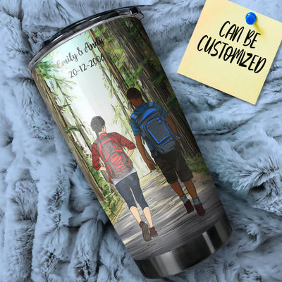 Personalized Hiking Couple Stainless Steel Tumbler