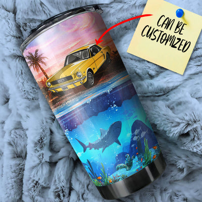 Personalized Stang On Island Stainless Steel Tumbler