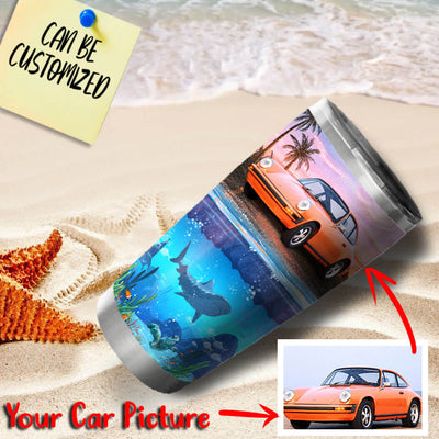 Customize Your Car On Island Stainless Steel Tumbler