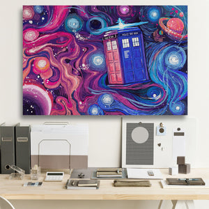 Who Universe Starry Night Canvas Wall Art
